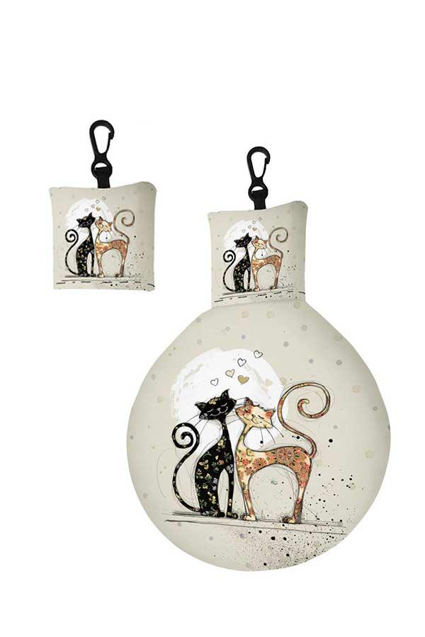 Μπρελόκ πανάκι καθαρισμού γυαλιών Bug art ερωτευμένες γάτες Kiub EL01A01