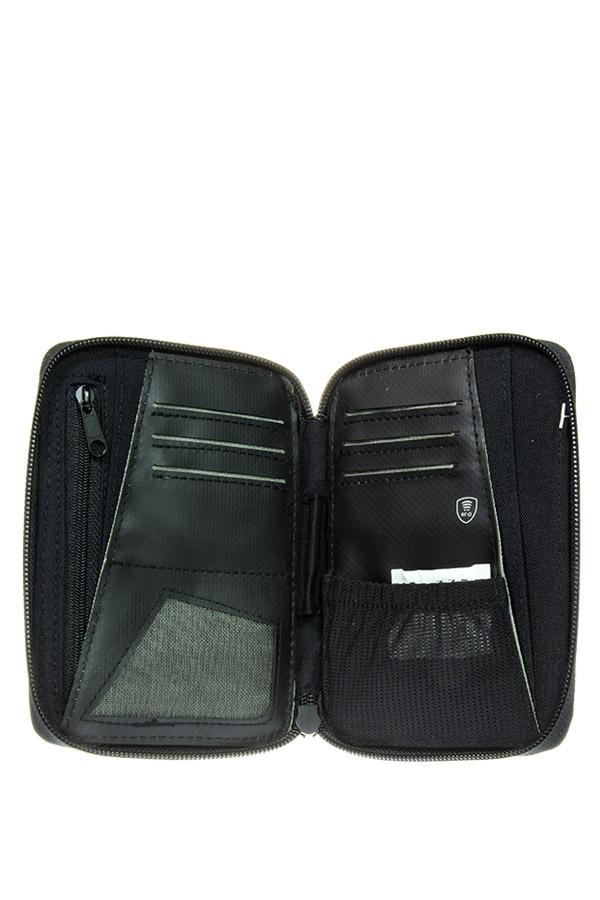 POLO Πορτοφόλι με φερμουάρ WALLET RFID BIG μαύρο 93801202