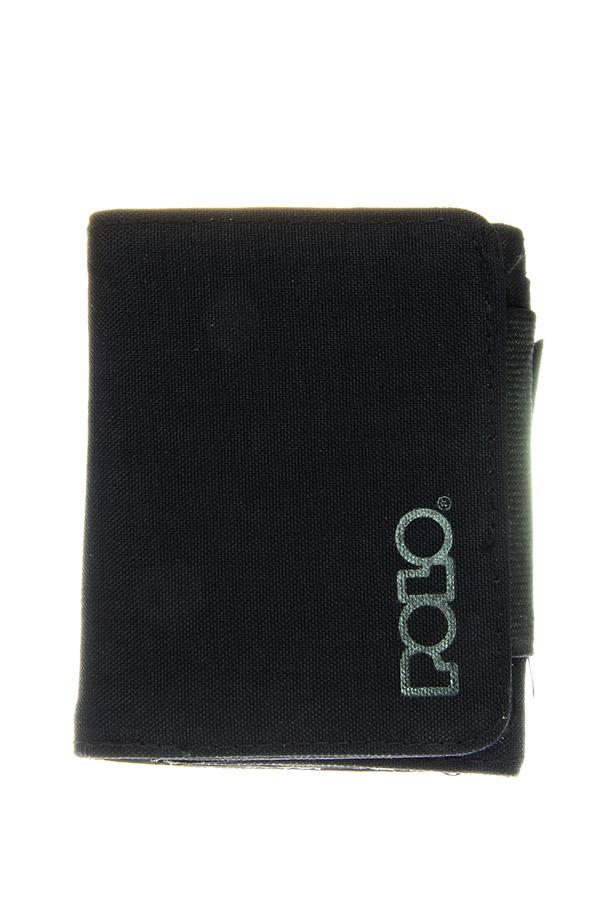 POLO Πορτοφόλι με φερμουάρ WALLET RFID SMALL μαύρο 93810800