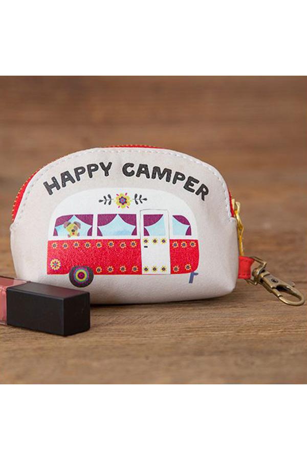 Natural Life πορτοφολάκι οβάλ Happy camper BAG273