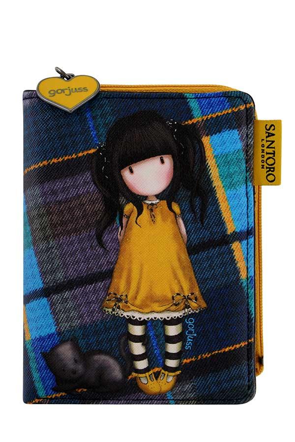 Santoro gorjuss Tartan Πορτοφόλι με φερμουάρ - Ruby yellow 848GJ01