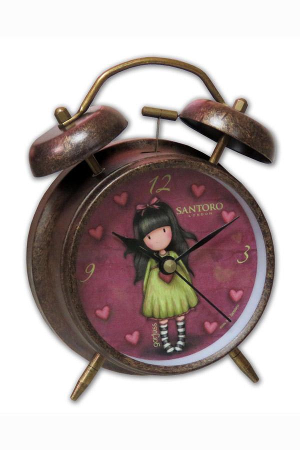 Ρολόι ξυπνητήρι Santoro gorjuss - Heartfelt RD-15-G