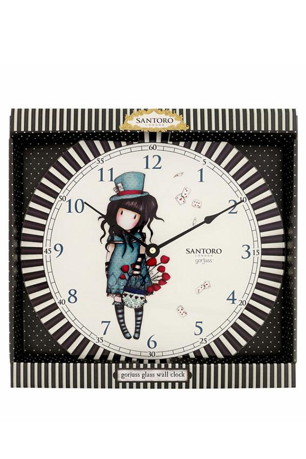 Santoro gorjuss ρολόι τοίχου The hatter 768GJ01