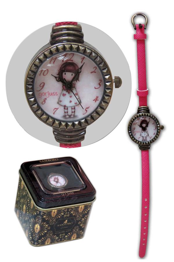 Ρολόι χειρός λουράκι Santoro gorjuss - Little heart W-05-G
