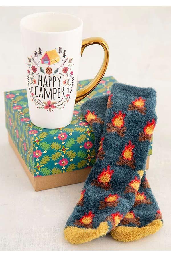 Natural Life Σετ Κούπα και Κάλτσες Happy camper GIFTSET020