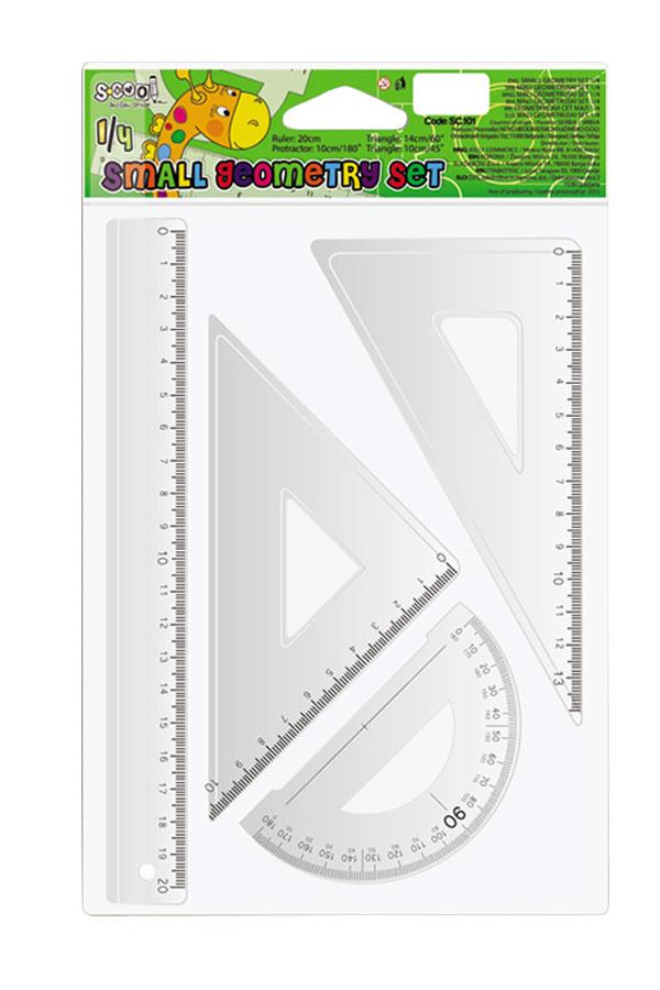 Σετ 4 γεωμετρικά σχήματα 20cm S.COOL SC.101