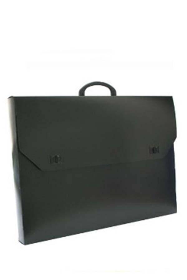 Τσάντα σχεδίου πλαστική μαύρη 45x65cm