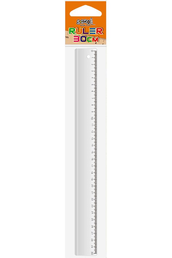Χάρακας πλαστικός 30cm S.COOL SC.106
