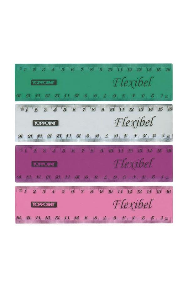 Χάρακας ελαστικός 16cm Flexibel STYLEX 48735