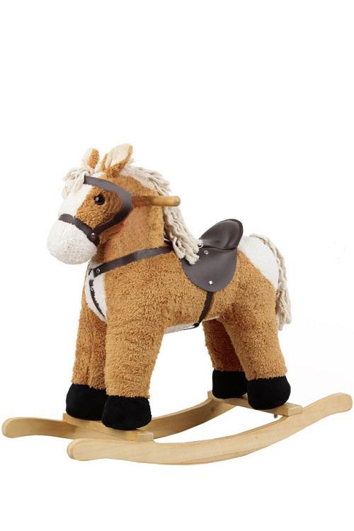 Κουνιστό αλογάκι λούτρινο μπεζ Ανέμη 170103