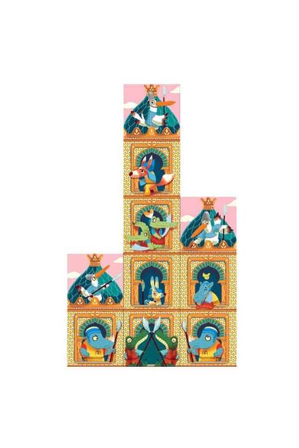 Παζλ κύβοι 10 τεμαχίων Κάστρο Djeco DJ08204