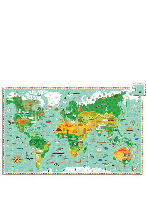 Παζλ 200 τεμαχίων Djeco Παγκόσμιος χάρτης DJ07412