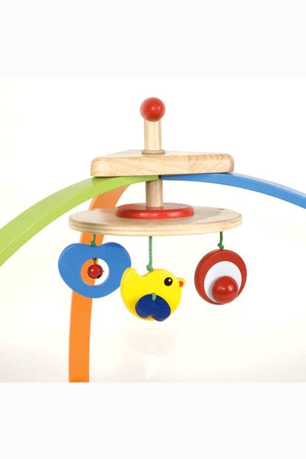 Βρεφικό ξύλινο γυμναστήριο Παπάκι Pin Toys 09500