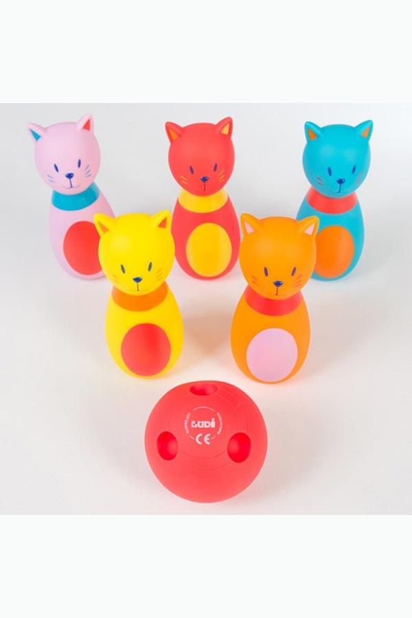 Βρεφικό μπόουλινγκ Γάτες LUDI 3450