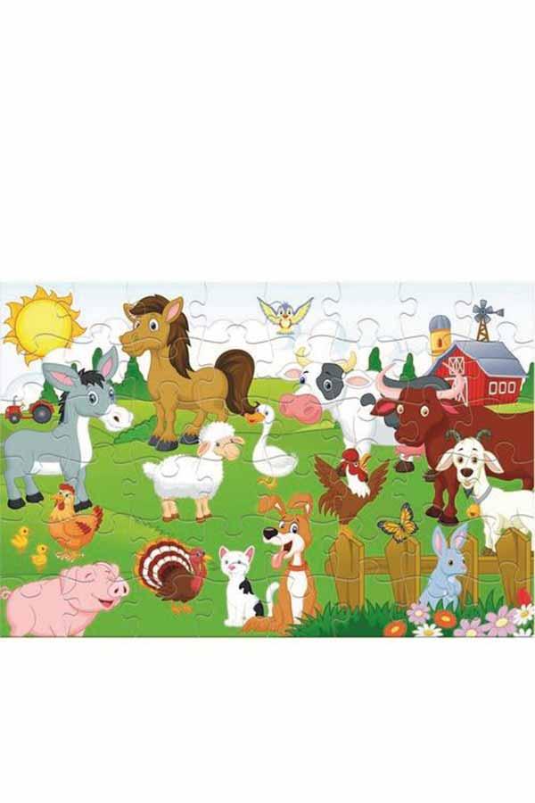 Παζλ 48 τεμαχίων γίγας Ζώα της φάρμας Luna 000621470