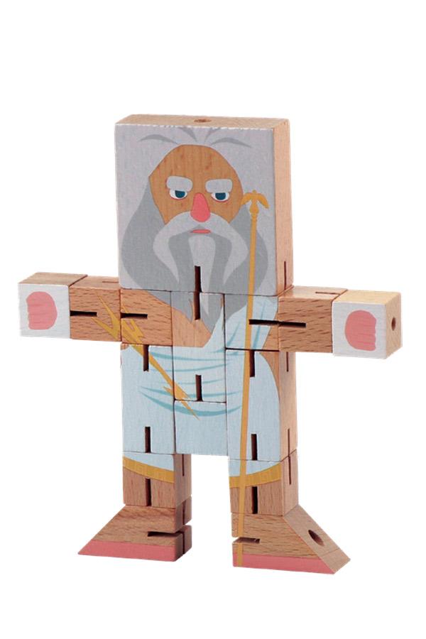 Σπαζοκεφαλιά ρομπότ ξύλινο Ελληνική μυθολογία θεός Δίας Luna 0621073