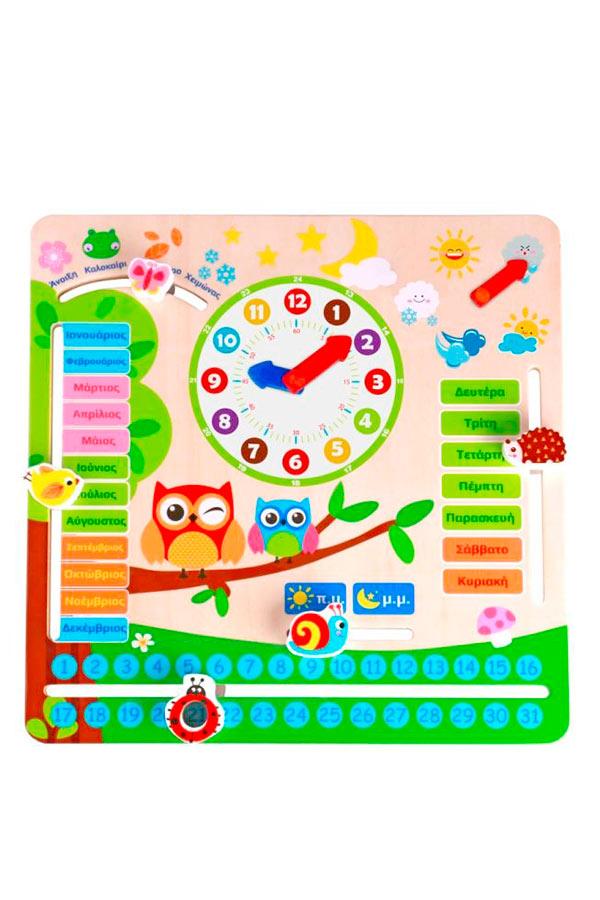 Ξύλινο Ημερολόγιό ζωάκια TOOKY TOY TY598
