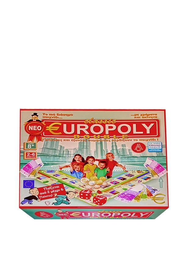 Επιτραπέζιο παιχνίδι classic EUROPOLY DOUBLE Argy Toys 0305