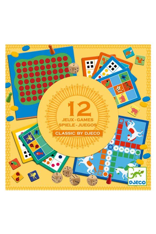 Επιτραπέζιο Σετ 12 κλασικά παιχνίδια Djeco DJ05218