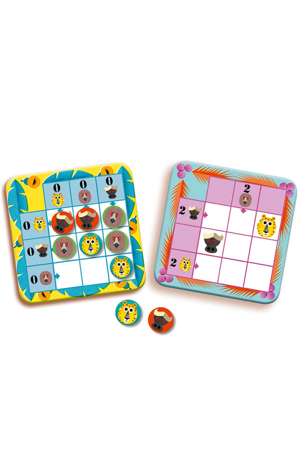 Επιτραπέζιο παιχνίδι λογικής Τα ζώα της ζούγκλας Djeco DJ08450