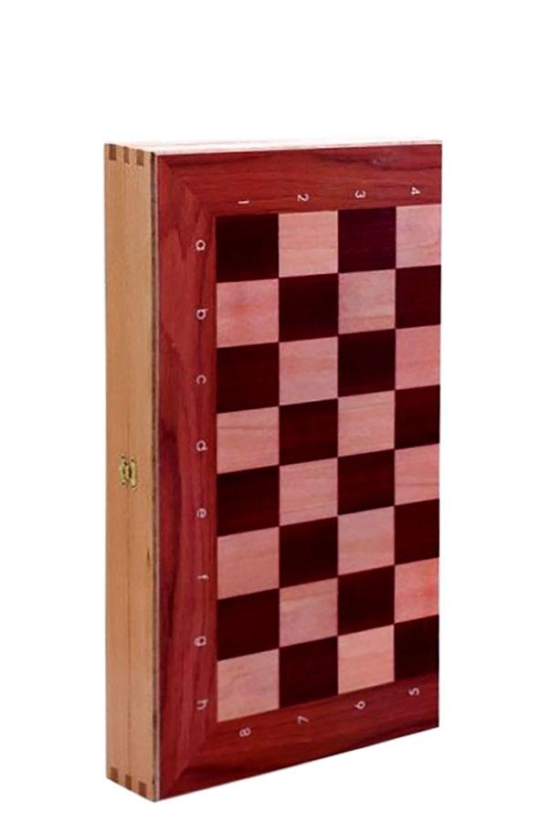 Σκάκι τάβλι μεταξοτυπία πλήρες 40x40cm