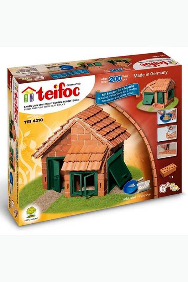 Κατασκευή Σπίτι και γκαράζ με τούβλα teifoc 4210
