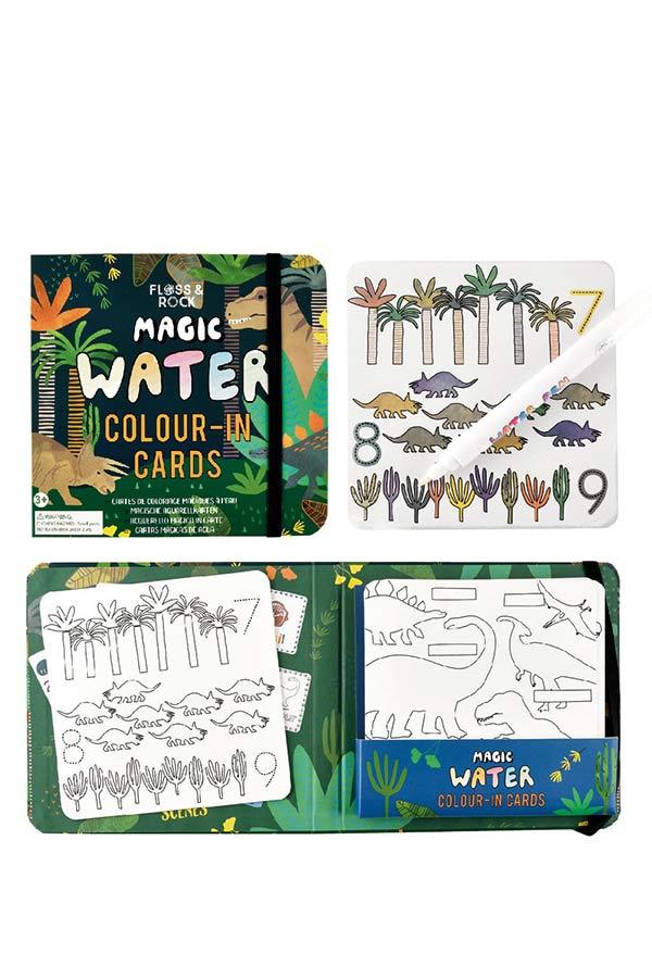 Μαγικός μαρκαδόρος COLOUR-IN CARDS Δεινόσαυροι FLOSS&ROCK 41P3647