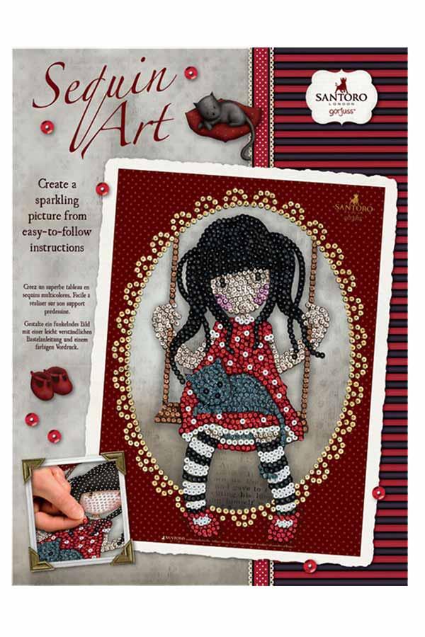 Santoro gorjuss Κατασκευή Sequin Art - Ruby 1713