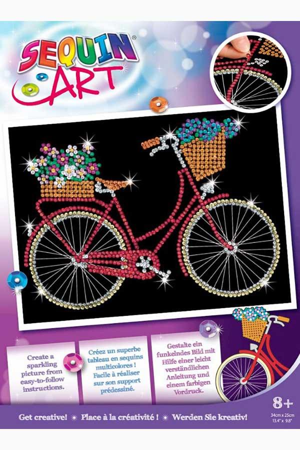 Κατασκευή Sequins Art Ποδήλατο Sequins Art red 1956