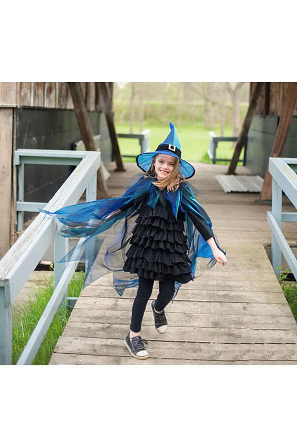 Κάπα Μάγισσα με καπέλο για 5-6 ετών Great Pretenders 50385