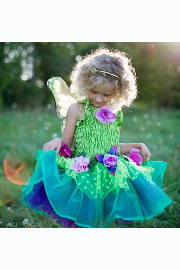 Στολή Νεράιδα με φτερά για 5-6 ετών πράσινη Great Pretenders 36605