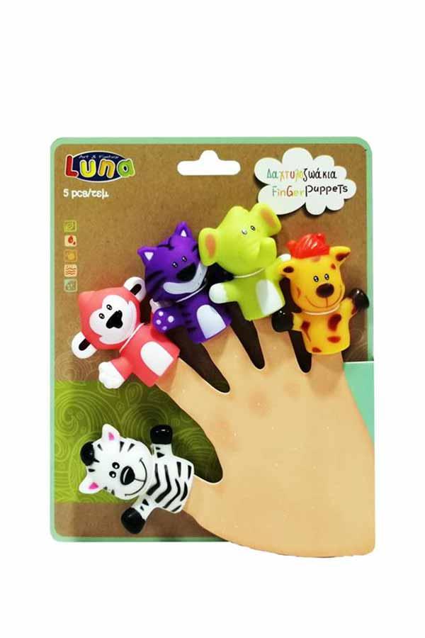 Δαχτυλόκουκλες - Δαχτυλοκουκλάκια 5 τμχ ζώα της ζούγκλας Luna 000621466