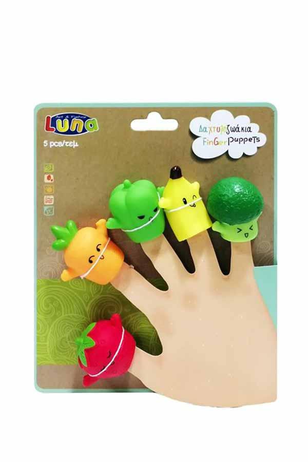 Δαχτυλόκουκλες - Δαχτυλοκουκλάκια 5 τμχ φρούτα και λαχανικά Luna 000621466