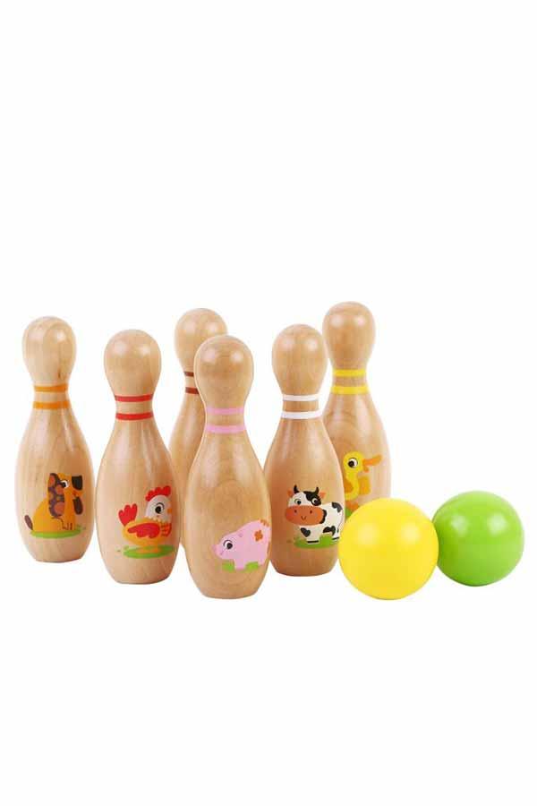Bowling ξύλινο jumini ζωάκια της φάρμας 61166