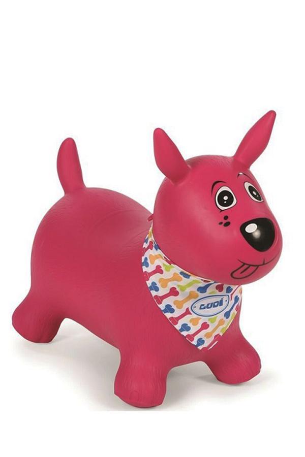 Σκυλάκι γυμναστικής φουσκωτό χοπ χοπ ροζ LUDI 2777