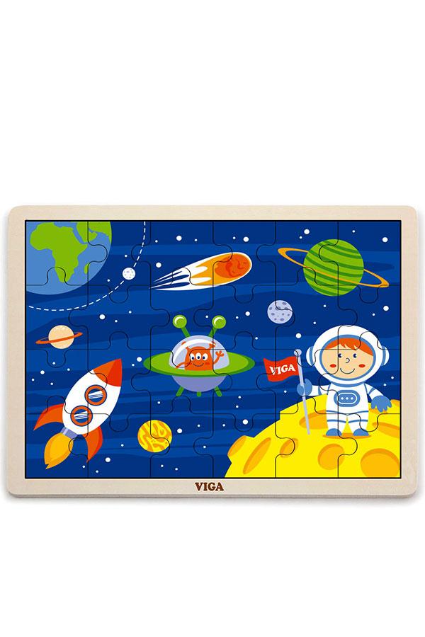 Παζλ ξύλινο 24 τεμαχίων Διάστημα VIGA 51461