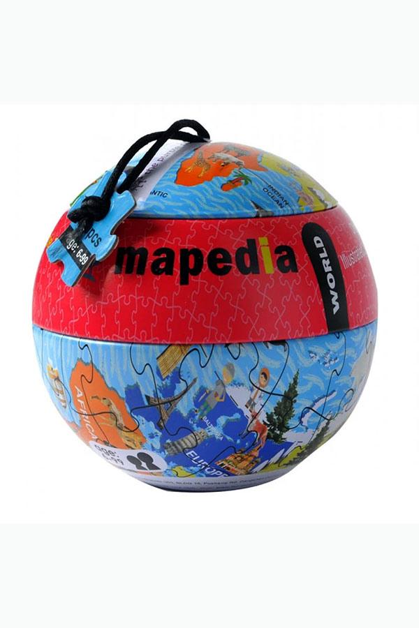 Παζλ 100 τεμαχίων Παγκόσμιος χάρτης The purple cow 68705