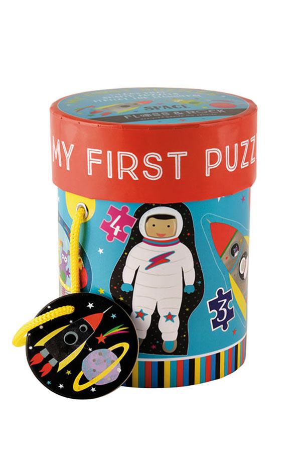 Παζλ 21 τεμαχίων MY FIRST PUZZLE Διάστημα FLOSS&ROCK 40P3590