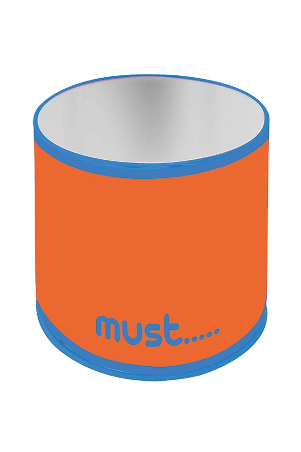 Μολυβοθήκη μεταλλική κυλινδρική must πορτοκαλί 0579050