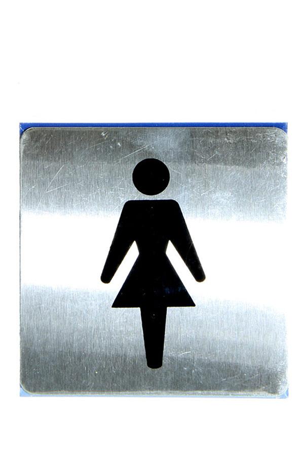 Πινακίδα WC γυναικών inox 9x9cm 450-1