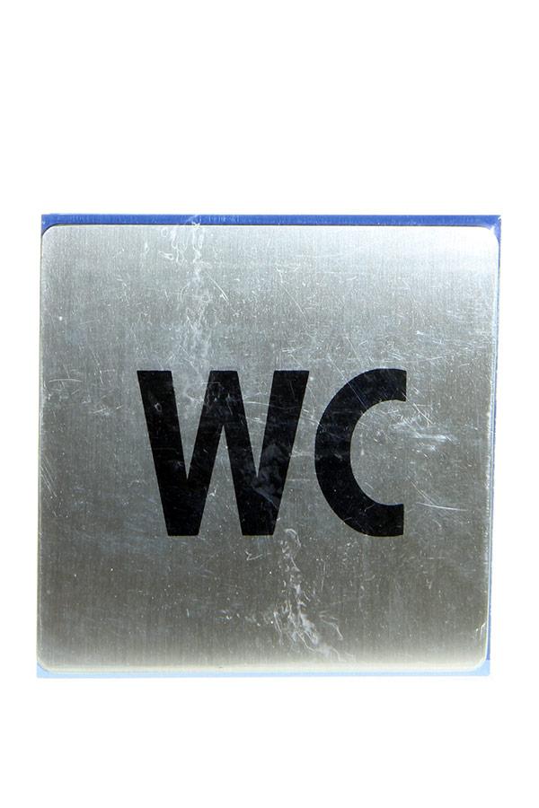 Πινακίδα WC inox 9x9cm 450-5