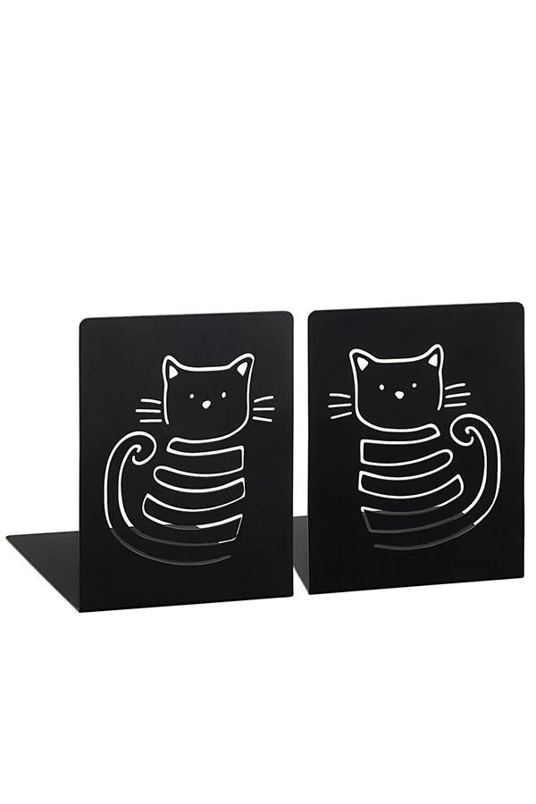 Βιβλιοστάτες μεταλλικοί μαύροι 2 τεμ. Miau γάτες moses 83278