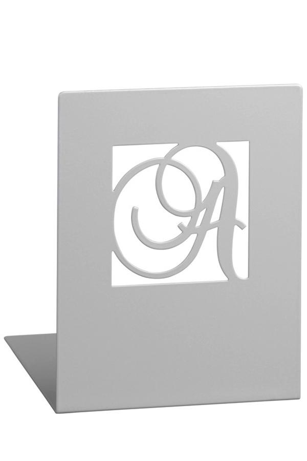 Βιβλιοστάτες μεταλλικοί ασημί 2 τεμ. A&Z Moses 81573