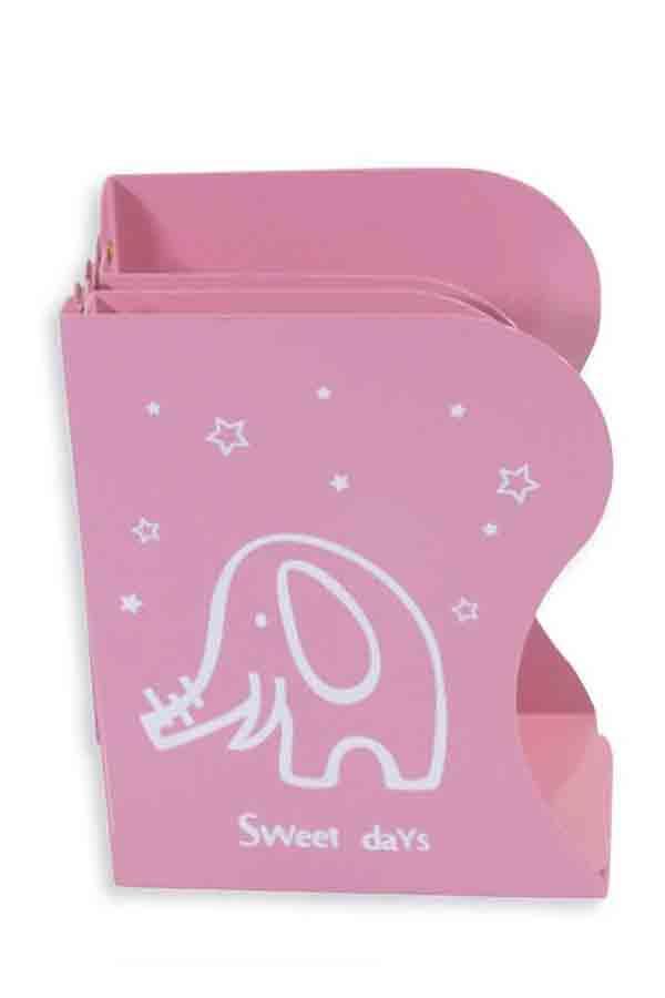Βιβλιοστάτης μεταλλικός επεκτεινόμενος Sweet days ελεφαντάκι ροζ 0.42.255