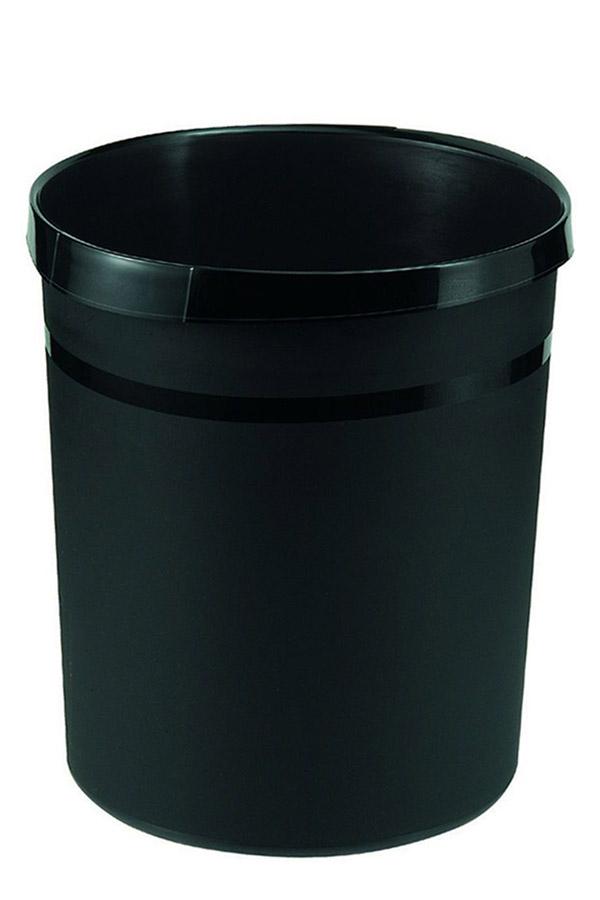 Καλάθι αχρήστων πλαστικό στρογγυλό 18lt HAN μαύρο 18190-13