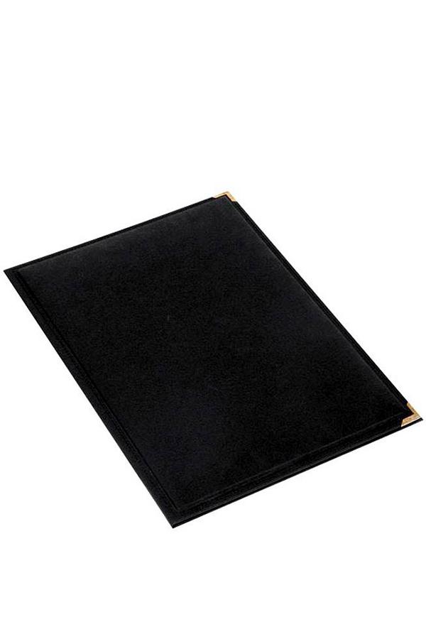 Σουμέν γραφείου δερματίνη με γαζί 35x47cm μαύρο 3071-B