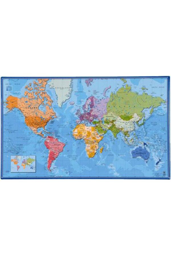 Σουμέν γραφείου VIQUEL 60x36cm Χάρτης Κόσμου 092453