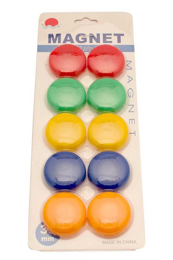 Μαγνητάκια χρωματιστά 10τμχ. 5 χρώματα 3510