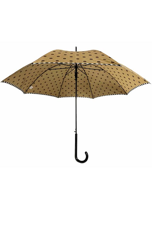 Ομπρέλα μπαστούνι πουά μουσταρδί Guy Laroche 8370