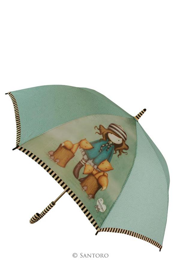 Ομπρέλα μπαστούνι Santoro gorjuss - The foxes 76-0012-10